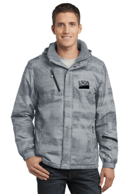 Port Authority® Brushstroke Print Insulated Jacket