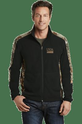 Realtree Camouflage Microfleece Full-Zip Jacket