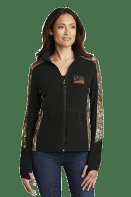 Ladies Realtree Camouflage Microfleece Full-Zip Jacket