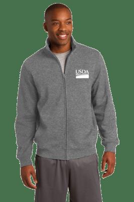 Unisex Ring Spun Combed Cotton Fleece Jacket