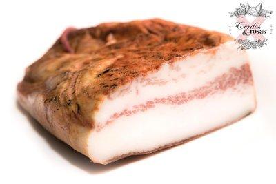 Cerdos y Rosas: Papada Curada Ibérica de Bellota. Peso aproximado 0.8kg