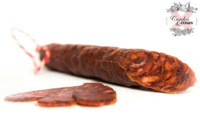 Cerdos y Rosas: Chorizo Vela Ibérico de Bellota. Peso aproximado 200g