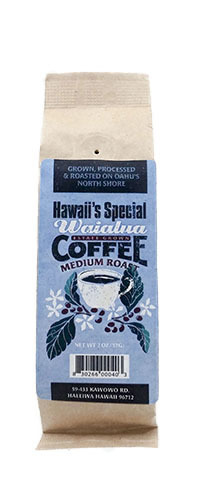 Waialua Coffee - Medium Roast, 2 oz - Ground