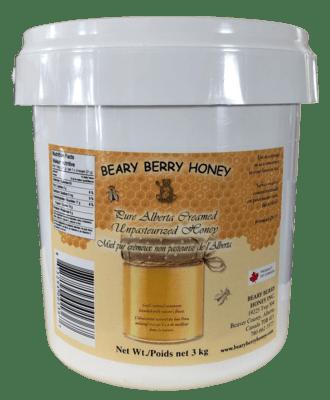 3 kg Pure Alberta Creamed Honey - Plain