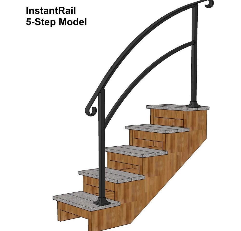 Instantrail – The Original Instantly Adjustable Handrail | Portable Stairs With Handrail | Chair | Plastic Portable | Camper | Wall Mounted | Ladder