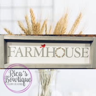 Double Sided Farmhouse Sign 6x18