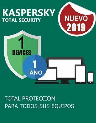 Kaspersky Total Security 1 Pc 1 Año.