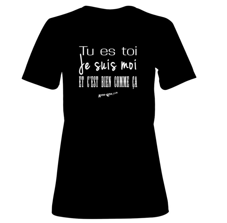 T-shirt femme modèle toi-moi (taille S) *PRIX RÉDUIT!