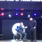 Officer Frederick Rubin receiving his Star of Texas Award.