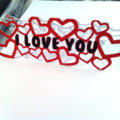 I Love You Papercut Pop Up Greeting Card Greeting Cards