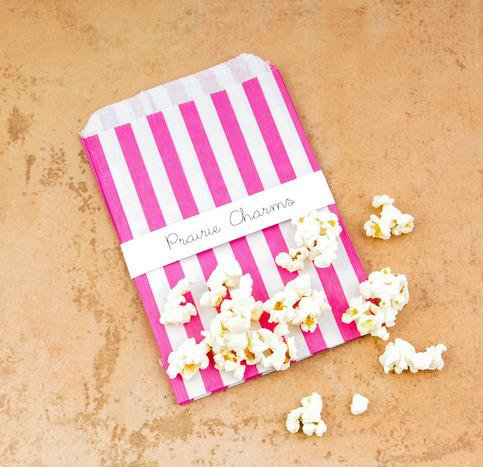 Eliza Pink Stripe Treat Bags