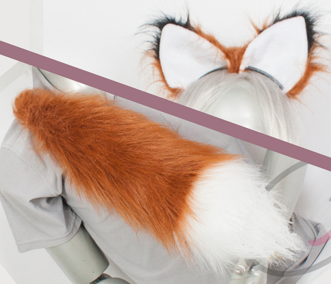 Best Fox Combo Tail And Ears Rust Cosplay Accessories