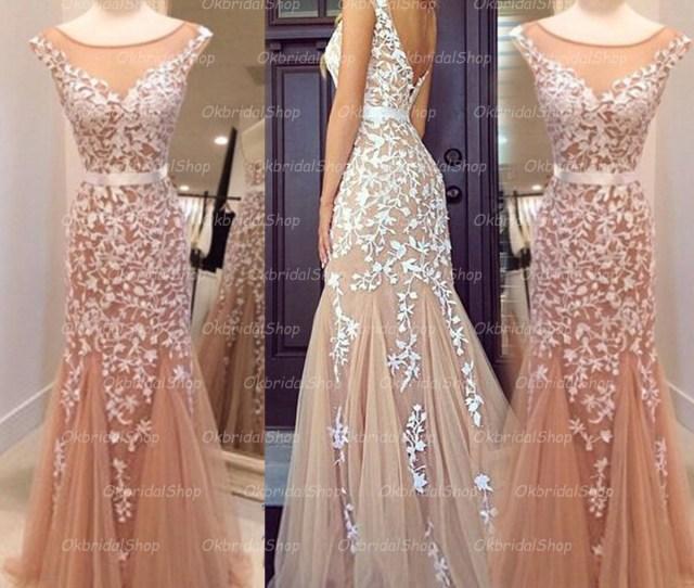 Mermaid Lace Prom Dress Lace Prom Dress Unique Prom Dress Long Prom Dress