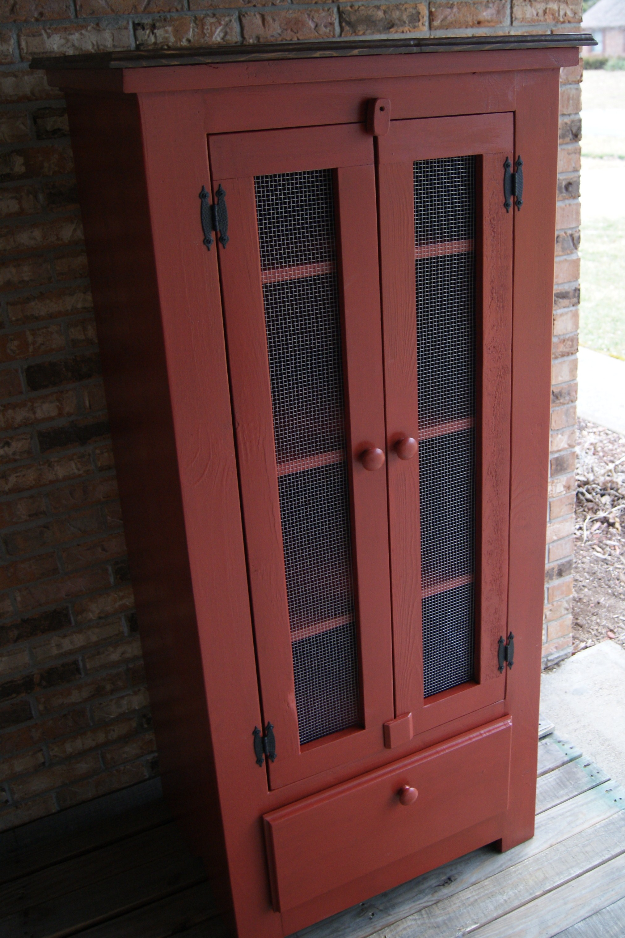 Rustic Pie Safe Jelly Cupboard Shabby Chic Finish