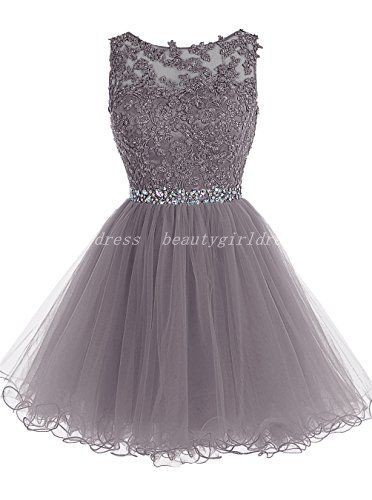Grey Homecoming Dressbeading Homecoming Dressesshort