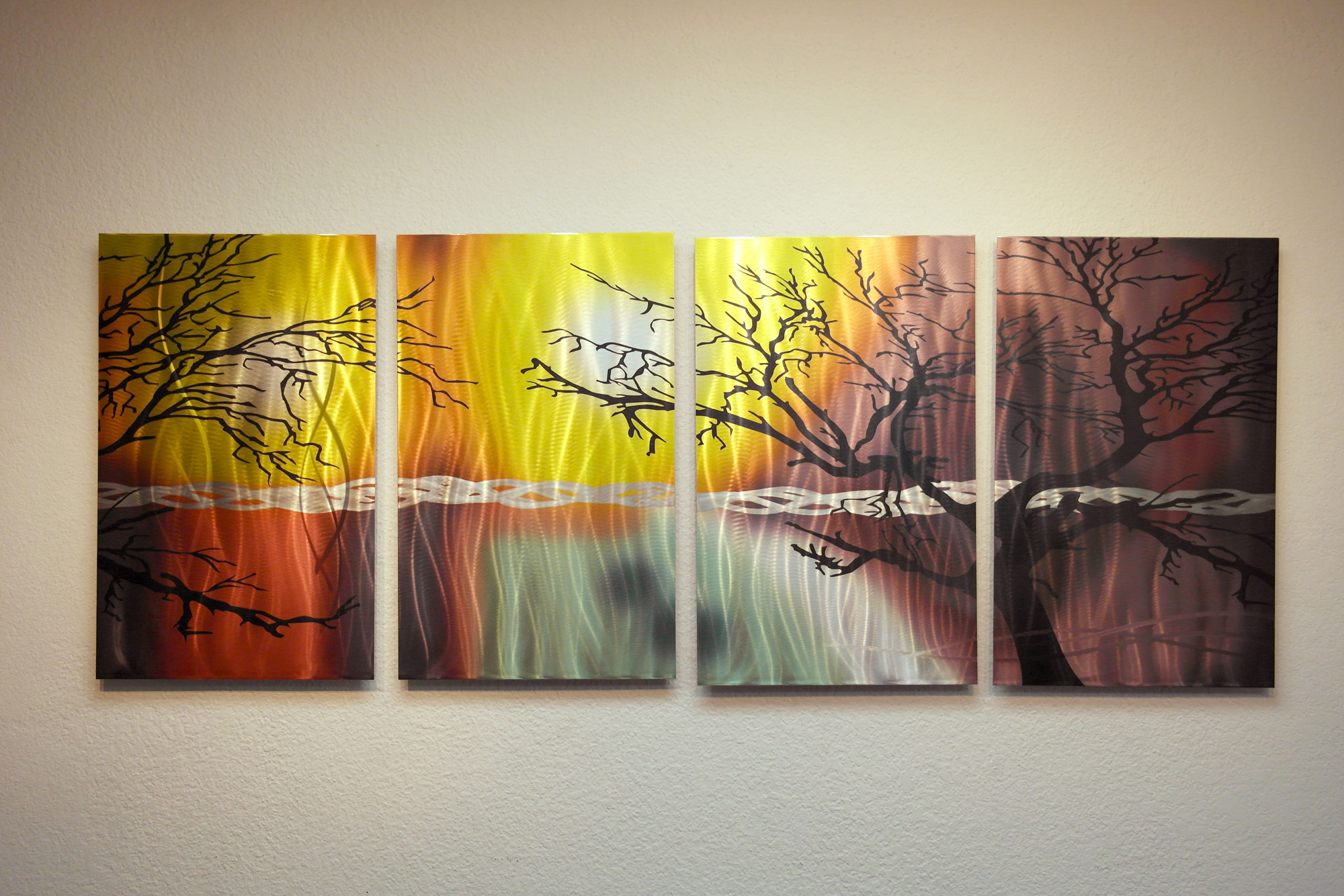 Tree In Silhouette- Abstract Metal Wall Art Contemporary