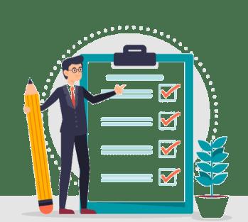 Modelo de checklist para admissões