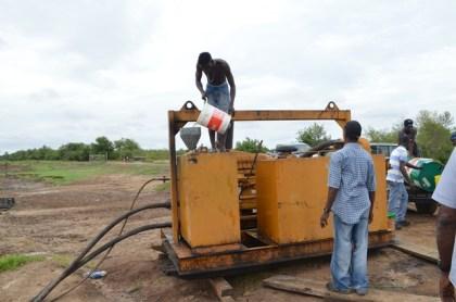 Mobile pump at Bush Lot outfall, Region Five