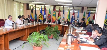 A section of the delegates present at the Regional Meeting on an Assessment of the Economic and Cooperation Relations of Central America, the Caribbean and Mexico