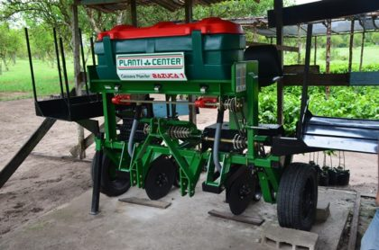 The Brazilian machine used to cultivate and harvest cassava at the National Agricultural Research and Extension Institute's,  Kairuni Horticulture Station