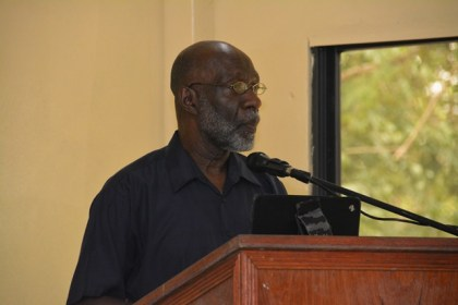 Technical Facilitator to the Minister of Education, Mr. Vincent Alexander, during his address at the graduation