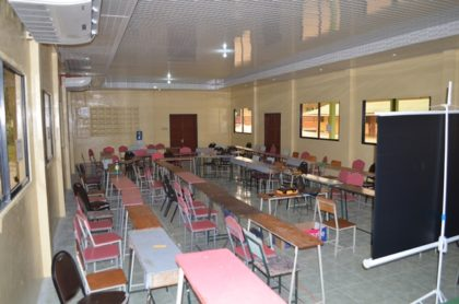 The recently rehabilitated conference hall at Camp Madewini