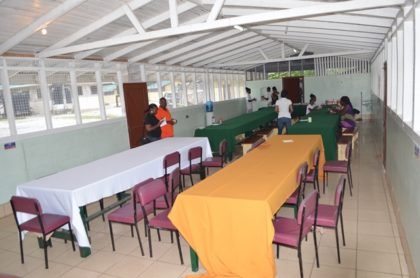 The Dining Area at Camp Madewini that is to be expanded
