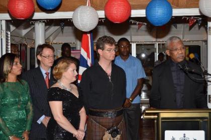 President David Granger addressing the gathering