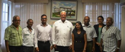 Minister Holder with members of the Region 3 Chamber of Commerce and GuySuco Representative Tara Persaud (1)