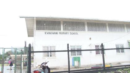 The recently rehabilitated Kwakwani Primary School fence