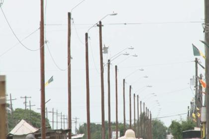 Streetlights erected  along Dennis Street