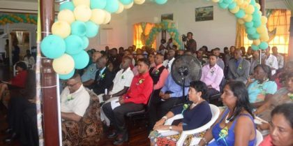 A section of the gathering at the at GuySuCo's Honour Roll award ceremony