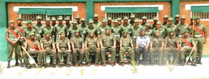 COS Brig Mark Phillips and other Senior Officers with Staff and Students of the Leader Sergeants Course #3