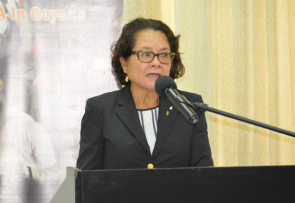 First Lady, Mrs. Sandra Granger said, during feature remarks, that teenagers must be properly equipped to assume leadership of our country in the future