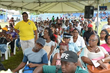 A section of the crowd who attended the Meet the Public Day initiative in Linden today.