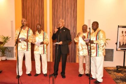 President Granger surprised the audience with a performance with the Victoria Region Quartet, formerly known as the Circle of Love