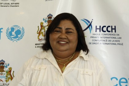Minister of Justice and Police of Suriname, Dr. Jennifer Van Dijk-Silos