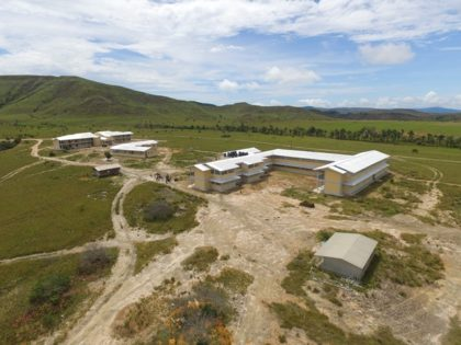 Aerial view of the Kato Secondary School complex, Region Eight