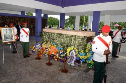 The burial site of Guyana's first Executive President, Linden Forbes Sampson Burnham, who died on August 6, 1985