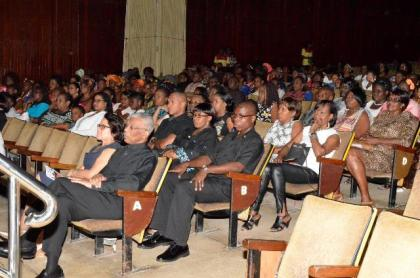The Dance Production captured the imagination of President David Granger and First Lady, Mrs. Sandra Granger, along with members of the audience, who were present at the National Cultural Centre last evening for the event.