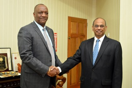 Minister Harmon welcomed Dr. Mathur, and stated that the government looks forward to a strengthened partnership.