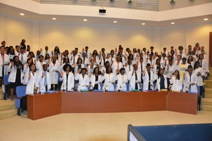 the Graduates were required to take the Hippocratic Oath, during the ceremony