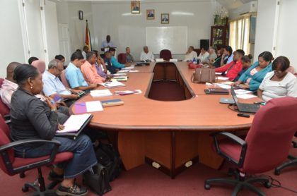 Agriculture stakeholders at the launch of the Bio-inputs workshop at the Ministry of Agriculture Boardroom