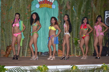 Contestants for the Miss Moruca pageant 2016 in swim wear