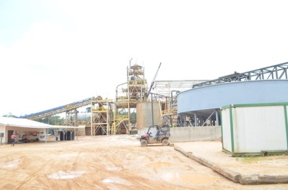 A section of the processing plant at Troy Resources, Karouni, Region 7