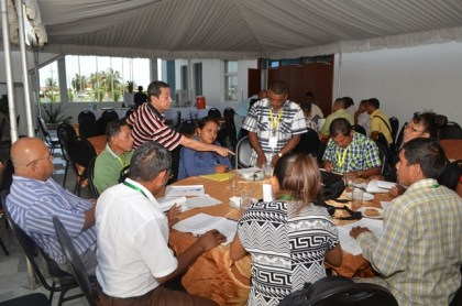 Some of the Indigenous leaders during their discussions