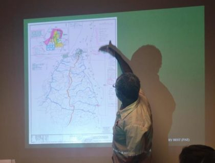 Mr Charles Griffit while identifying locations for soya bean and corn cultivation as presented in the proposal
