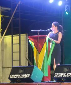 Ms. Patricia Bacchus while delivering remarks at the Berbice Expo