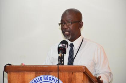 Dr. Clive Bowman, head of Paediatrics Department, Georgetown Public Hospital Corporation (GPHC)