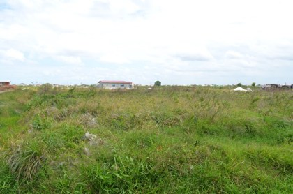 An area of allocated, but unoccupied land